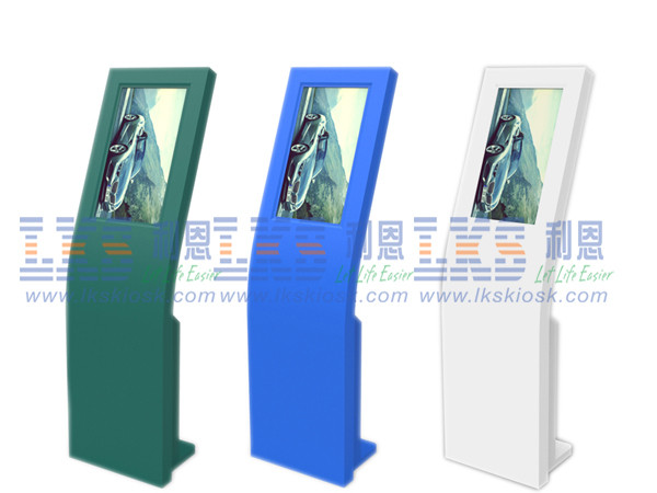 Multi Color Interactive Touch Screen Information Kiosk Outstanding Self Service Terminal