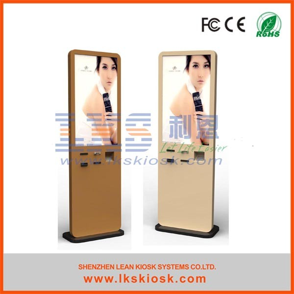 46 Inch Advertising outdoor touch screen kiosk / self service interactive information kiosk