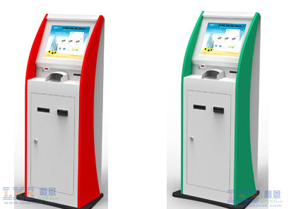 Self Service Ticket Vending Kiosk Machine With Cash Acceptor And Thermal Printer