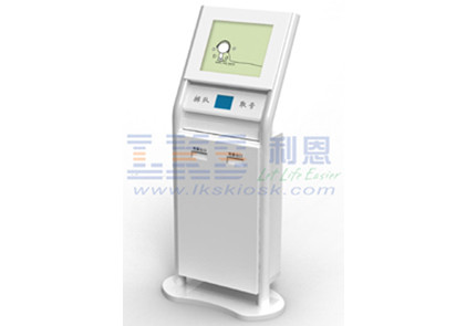 Interactive Queuing Free Standing Kiosk Card Reader Receipt Printer Design