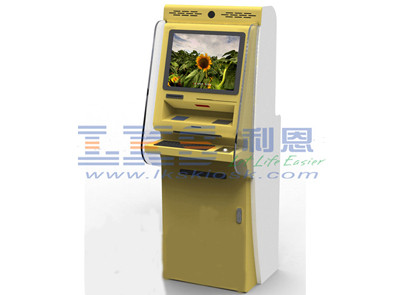 Single Screen Self Service Internet Kiosk Magnetic Stripe Bank Card Payment
